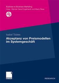 Akzeptanz Von Preismodellen Im Systemgesch ft