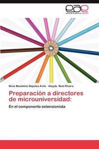 Preparacion a Directores de Microuniversidad