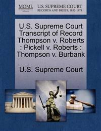 U.S. Supreme Court Transcript of Record Thompson V. Roberts