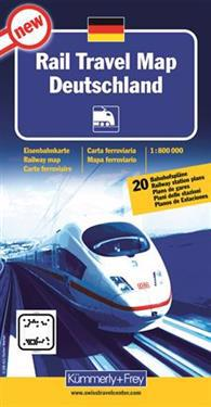 Rail travel map Deutschland