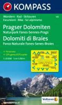 Pragser Dolomiten - Naturpark Fanes-Sennes-Prags - Dolomiti di Braies - Parco Naturale Fanes-Senes-Braies 1 : 25 000