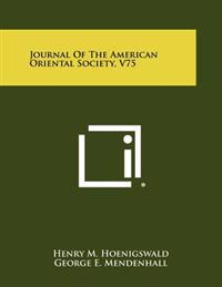 Journal of the American Oriental Society, V75