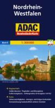 ADAC BundesländerKarte Deutschland 06. Nordrhein-Westfalen 1 : 300 000