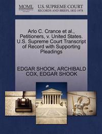 Arlo C. Crance et al., Petitioners, V. United States. U.S. Supreme Court Transcript of Record with Supporting Pleadings