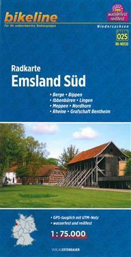 Bikeline Radkarte Emsland Süd (NDS10) 1 : 75 000