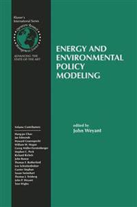 Energy and Environmental Policy Modeling