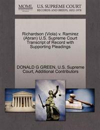 Richardson (Viola) V. Ramirez (Abran) U.S. Supreme Court Transcript of Record with Supporting Pleadings
