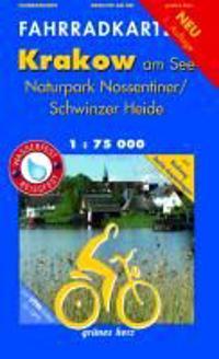 Pocket-Fahrradkarte Krakow am See, Nossentiner/Schwinzer Heide 1:75.000