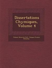Dissertations Chymiques, Volume 4