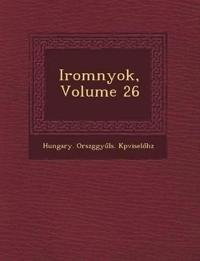 Irom¿nyok, Volume 26