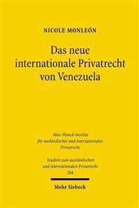 Das Neue Internationale Privatrecht Von Venezuela