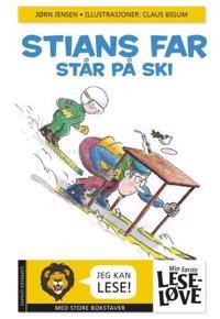 Stians far står på ski