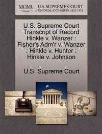 U.S. Supreme Court Transcript of Record Hinkle V. Wanzer