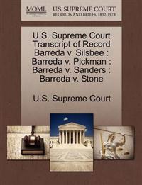 U.S. Supreme Court Transcript of Record Barreda V. Silsbee