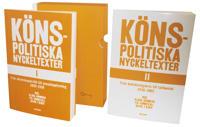 Könspolitiska nyckeltexter I-II. 1839-2002 (2 volymer i kassett)