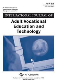 International Journal of Adult Vocational Education and Technology, Vol 4 ISS 1