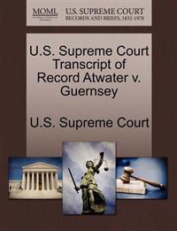 U.S. Supreme Court Transcript of Record Atwater V. Guernsey