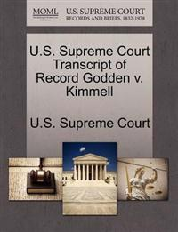 U.S. Supreme Court Transcript of Record Godden V. Kimmell