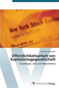 Offentlichkeitsarbeit Von Kapitalanlagegesellschaft