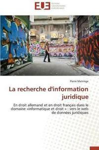 La Recherche d'Information Juridique