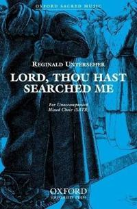 Lord, thou hast searched me