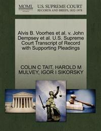 Alvis B. Voorhes et al. V. John Dempsey et al. U.S. Supreme Court Transcript of Record with Supporting Pleadings