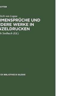 Reimensprüche Und Andere Werke in Einzeldrucken