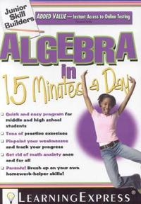 Algebra in 15 Minutes a Day