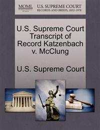 U.S. Supreme Court Transcript of Record Katzenbach V. McClung