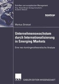 Unternehmenswachstum Durch Internationalisierung in Emerging Markets