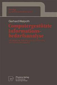 Computergestutzte Informationsbedarfsanalyse