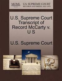 U.S. Supreme Court Transcript of Record McCarty V. U S