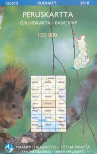 Peruskartta Q5313 Kuohatti 1:25 000