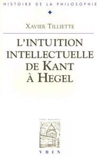 L'Intuition Intellectuelle de Kant a Hegel