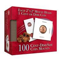 Cent/Dime 2x2 Coin Mounts Cube 100 Count