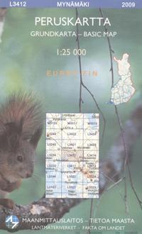 Maastokartta L3412 Mynämäki peruskartta 1:25 000