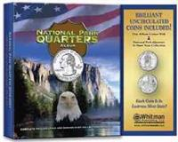 National Park Quarters Album with Coins