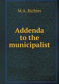 Addenda to the Municipalist