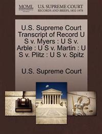 U.S. Supreme Court Transcript of Record U S V. Myers