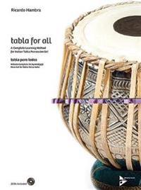 Tabla for All: A Complete Learning Method for Indian Tabla Percussion Set (English/Spanish Language Edition), Book & 2 CDs