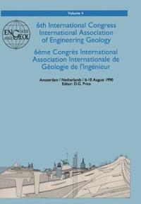 6th International Congress International Association of Engineering Geology