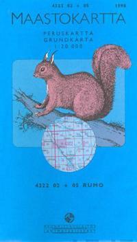 Maastokartta 4322 02+05 Rumo 1:20000