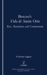 "Berceo's ""Life of Santa Oria"""
