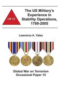 The Us Military's Experience in Stability Operations, 1789-2005: Global War on Terrorism Occasional Paper 15