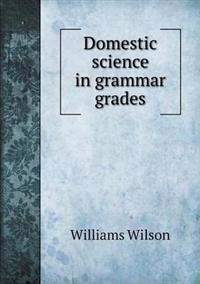 Domestic Science in Grammar Grades