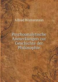 Psychoanalytische Anmerkungen Zur Geschichte Der Philosophie