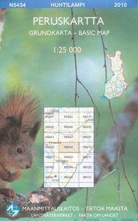 Maastokartta N5434 Huhtilampi peruskartta 1:25 000