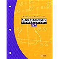 Saxon Math Homeschool 8/7 Tests and Worksheets