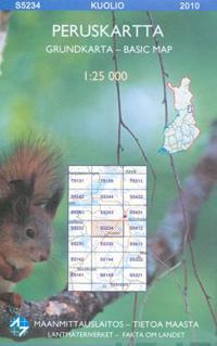 Maastokartta S5234 Kuolio 1:25 000