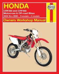 Honda Crf250 and Crf450 Motocross & Off-road Bikes 2002 Thru 2006